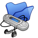 128x128px size png icon of Folder blue mymusic