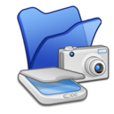 Folder blue scanners cameras Icon