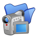 128x128px size png icon of Folder blue videos