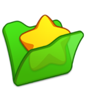 128x128px size png icon of Folder green favourite