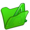 Folder green font1 Icon