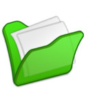 128x128px size png icon of Folder green mydocuments