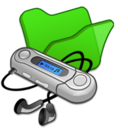 128x128px size png icon of Folder green mymusic
