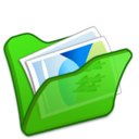 128x128px size png icon of Folder green mypictures