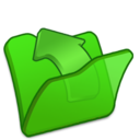 128x128px size png icon of Folder green parent