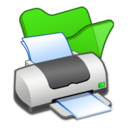 128x128px size png icon of Folder green printer