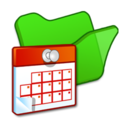 128x128px size png icon of Folder green scheduled tasks
