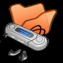 128x128px size png icon of Folder orange mymusic
