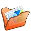 128x128px size png icon of Folder orange mypictures