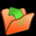128x128px size png icon of Folder orange parent