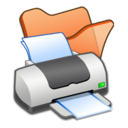 Folder orange printer Icon