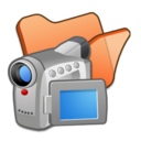 128x128px size png icon of Folder orange videos