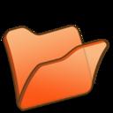 128x128px size png icon of Folder orange