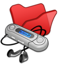 Folder red mymusic Icon
