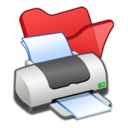 Folder red printer Icon