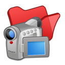 128x128px size png icon of Folder red videos