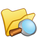 128x128px size png icon of Folder yellow explorer