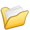 128x128px size png icon of Folder yellow mydocuments