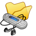 128x128px size png icon of Folder yellow mymusic