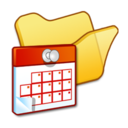128x128px size png icon of Folder yellow scheduled tasks