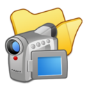 128x128px size png icon of Folder yellow videos