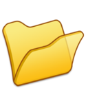 128x128px size png icon of Folder yellow