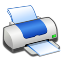 128x128px size png icon of Hardware Printer Blue