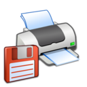 128x128px size png icon of Hardware Printer Floppy