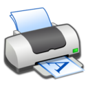 128x128px size png icon of Hardware Printer Landscape