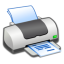 128x128px size png icon of Hardware Printer Text