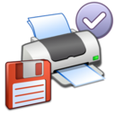 128x128px size png icon of Misc Printer Floppy Default