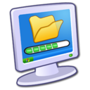 128x128px size png icon of System Files Download