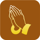128x128px size png icon of Christianity Praying Hand Symbol