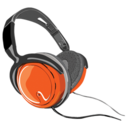 128x128px size png icon of headphones