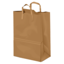 128x128px size png icon of paperbag