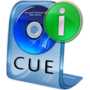 128x128px size png icon of CUE File