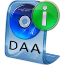 128x128px size png icon of DAA File