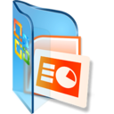 128x128px size png icon of PPTX Files