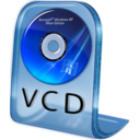 128x128px size png icon of VCD File