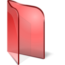 128x128px size png icon of Folder Open Red