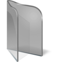 128x128px size png icon of Folder Open Silver