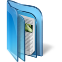 128x128px size png icon of Live Folder Blue