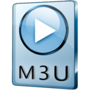 128x128px size png icon of M3U File