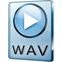 128x128px size png icon of WAV File