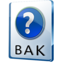 128x128px size png icon of BAK File