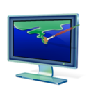 128x128px size png icon of Display