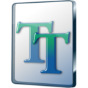 128x128px size png icon of Font