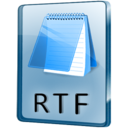 128x128px size png icon of RTF File