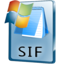 128x128px size png icon of SIF File