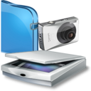 128x128px size png icon of Scanners And Cameras